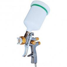 LVLP BRONZE NEW Профессиональный краскораспылитель 1,8 мм, верхний пластиковый бачок 600 мл., mах 1,5 INTERTOOL PT-0136