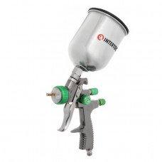 LVLP GREEN NEW Професійний фарборозпилювач 1,3 мм, верхній металевий бачок 600 мл INTERTOOL PT-0131