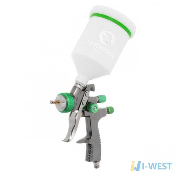LVLP GREEN NEW Професійний фарборозпилювач 1,3 мм, верхній пластиковий бачок 600 мл, мах 1,5 INTERTOOL PT-0132