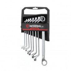 Набор накидных ключей 8 шт., 6-22 мм Cr-V, покрытие сатин-хром; PROF DIN3113 INTERTOOL XT-1202