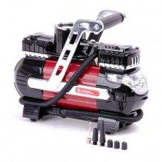 Компрессор автомобильный 12В. Два цилиндра + Подарок BX-9005 Сумка инструментальная 16 карманов INTERTOOL AC-0003 (AC-0003.A)