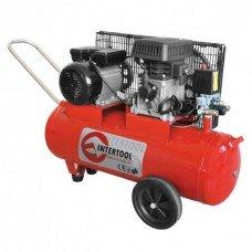Компресор 50 л, 2,5 HP, 1,8 кВт, 220 В, 8 атм, 233 л/хв. INTERTOOL PT-0011