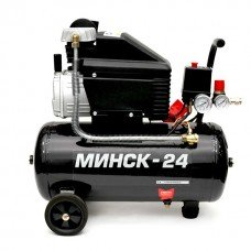Компресор 24 л, 1,5 HP, 1,1 кВт, 220 В, 8 атм, 190 л/хв INTERTOOL PT-0020