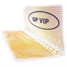 Уголок пластиковый VIP 3м, с сеткой 10*10см, 160г \ м2 COFFE (шт.) Галич Профіль (ПВХ3,0С160)