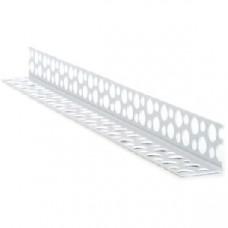 Уголок перфорированный пластиковый 2,5м (шт.) Галич Профіль (ПВХ2,5)
