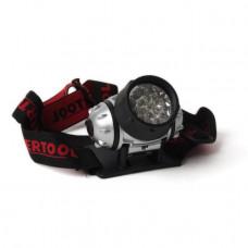 Ліхтар налобний світлодіодний, чотири режиму роботи, 19 LED, 3 батарейки ААА. INTERTOOL LB-0301