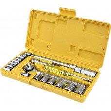 Набір ключів і насадок торцевих 21 шт MasterTool (78-0257)