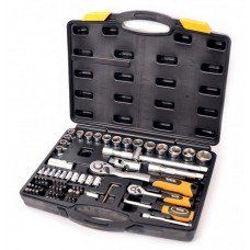 """Набір ключів і насадок торцевих 1/4"""" і 1/2"""" 72 шт MasterTool (78-5072)"""
