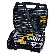 """Набір ключів і насадок торцевих Mastertool 1/4"""", 3/8"""" і 1/2"""" Cr-V 121 шт (78-5121) MasterTool"""