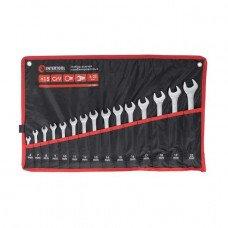 Набір ключів комбінованих 15 од. 6-19, 22 мм Cr-V INTERTOOL HT-1204