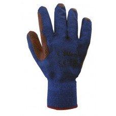"""Рукавиці робочі """"Скляр"""" сині з червоним латексним покриттям (69208) Перчатка-центр"""