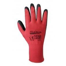Перчатки рабочие синтетические красные с черным латексным покрытием WL-1001 (69210) Перчатка-центр