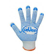 Перчатки трикотажные белые с ПВХ точкой 78310 (69223) Перчатка-центр