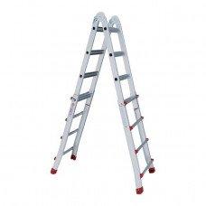 Драбина алюмінієва універсальна розкладна телескопічна 4x4 ступ. INTERTOOL LT-2044