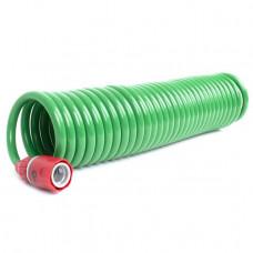 Шланг для полива спиральный 7,5 м с конекторами + aдаптер универсальный для конектора 1/2