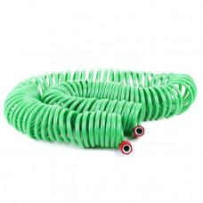 Шланг для полива спиральный 30 м с конекторами + aдаптер универсальный для конектора 1/2 INTERTOOL (GE-4003)
