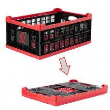 Ящик складной, пластиковый, загрузка 30 кг, 47 л., 600*400*260 мм, материал 100% первичный пищевой ПЭ INTERTOOL BX-6426