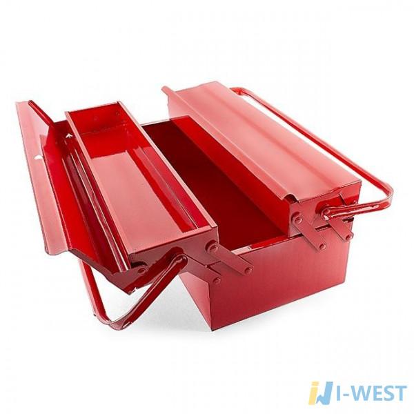 Скринька для інструментів металевий 450 мм, 3 секції INTERTOOL HT-5043