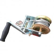 Лебідка важільна барабанна сталевий трос 900 кг INTERTOOL GT1455