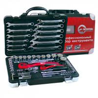 Профессиональный набор инструментов 1/4 INTERTOOL (ET-6061)