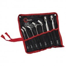 Набор ключей накидных шарнирных 8-22 мм, 7 ед., Cr-V, покрытие сатин-хром INTERTOOL XT-1401