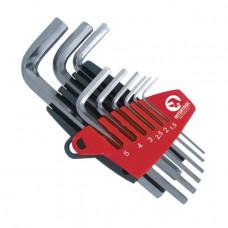 Набір Г-образних шестигранних ключів 9 шт., 1,5-10 мм Small INTERTOOL HT-1801