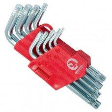 Набір Г-подібних ключів TORX 9 шт, Т10-Т50, Cr-V, Small INTERTOOL HT-0607