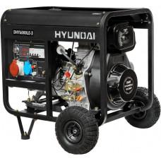 Дизельний генератор Hyundai DHY 6000 LE-3 + колеса HYUNDAI