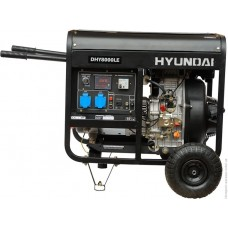 Дизельний генератор Hyundai DHY 8000 LE + колеса HYUNDAI