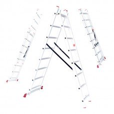 Драбина алюмінієва 2-х секційна універсальна розкладна 2x8 ступ. 3,69 м INTERTOOL LT-0208