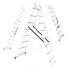 Драбина алюмінієва 2-х секційна універсальна розкладна 2x10 ступ. 4,80 м INTERTOOL LT-0210