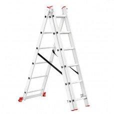 Драбина алюмінієва 3-х секційна універсальна розкладна 3x6 ступ. 3,41 м INTERTOOL LT-0306