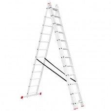 Драбина алюмінієва 3-х секційна універсальна розкладна 3x12 ступ. 7,89 м INTERTOOL LT-0312