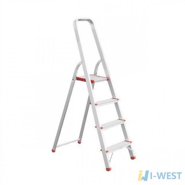Драбина алюмінієва 4 сходинки, висота до платформи 850 мм INTERTOOL LT-1004