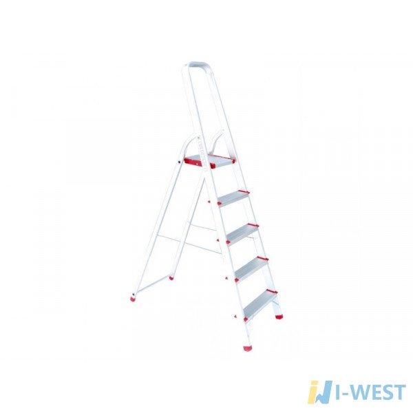 Драбина алюмінієва 5 сходинок, висота до платформи 1065 мм INTERTOOL LT-1005