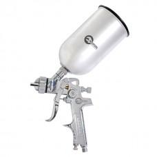 Пістолет фарбувальний пневматичний HVLP, форсунка 1,3 мм, В/Б, метал 1000 мл 3,5-5 бар INTERTOOL PT-0107