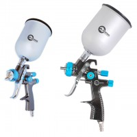 LVLP BLUE NEW Професійний фарборозпилювач 1,4 мм, верхній металевий бачок 600 мл, мах 1,5 атм INTERTOOL PT-0133
