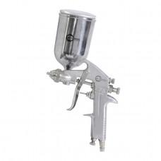 Пистолет покрасочный пневматический 1,5 мм, верхний бачок 400 мл INTERTOOL PT-0202