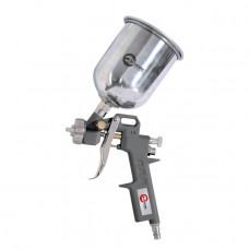Пистолет покрасочный пневматический, форсунка 1,5 мм, В/Б металл, 600 мл, 3,5-5 бар INTERTOOL PT-0205