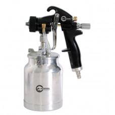 HVLP BLACK PROF Фарборозпилювач 1,5 мм, нижній металевий бачок регульованою подачею тиску INTERTOOL PT-0214