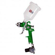Пистолет покрасочный пневматический HVLP , форсунка 1,3 мм, В/Б, 600 мл. 3,5-5 бар INTERTOOL PT-0102