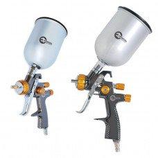 LVLP BRONZE NEW Професійний фарборозпилювач 1,8 мм, верхній металевий бачок 600 мл, мах 1 INTERTOOL PT-0135