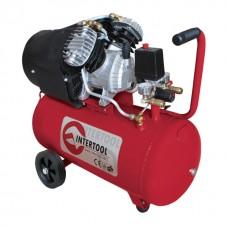 Компресор 50 л, 3 HP, 2,23 кВт, 220 В, 8 атм, 354 л/хв, 2-х циліндровий INTERTOOL PT-0004