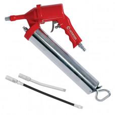 Пистолет для выдавливания смазки пневматический + две насадки INTERTOOL PT-0607