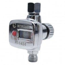 Регулятор тиску з цифровим манометром для пістолетів фарбувальних, професійний, 1/4 INTERTOOL (PT-1424)
