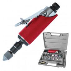 Шлифмашина пневматическая в чемодане 1/4 INTERTOOL (PT-1003)
