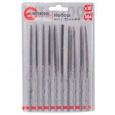 Набір надфилей 10 шт., 140 мм, без ручок INTERTOOL HT-3707