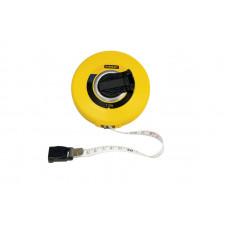 """Рулетка вимірювальна довга """"LongTape Fiberglass"""" зі стрічкою зі скловолокном STANLEY 0-34-297"""