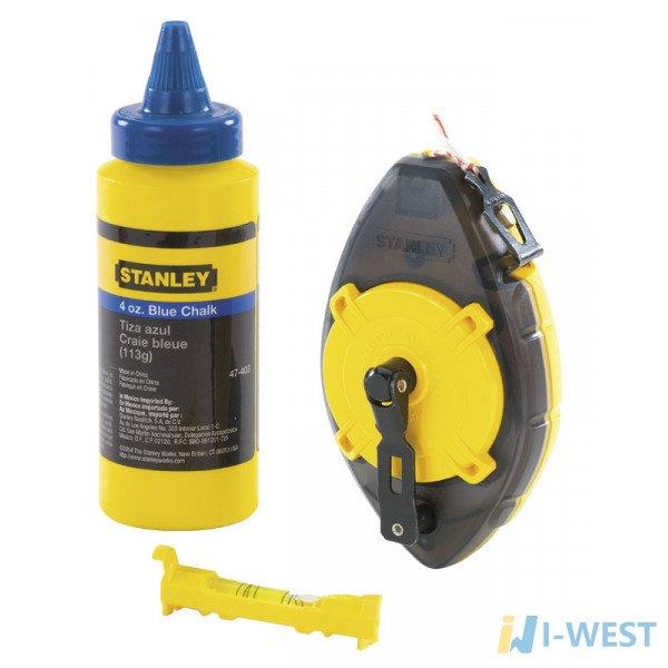 Комплект: шнур разметочный, меловой порошок и подвесной уровень STANLEY 0-47-465