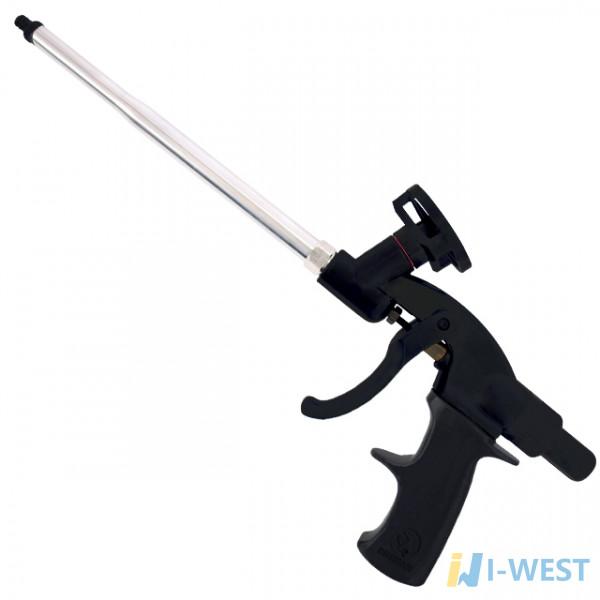 Пістолет для монтажної піни з тефлоновим покриттям голки, трубки і утримувача балона 4 нас. INTERTOOL PT-0605